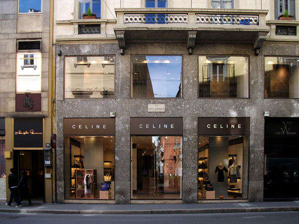 Celine boutique, Milano